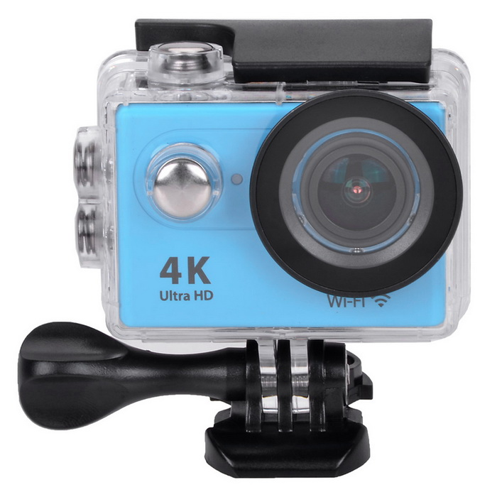 2 LCD 12MP 1080P Wi-Fi Waterproof Action Camera - BlueSport Cameras<br>Form ColorBlueShade Of ColorBlueMaterialABSQuantity1 DX.PCM.Model.AttributeModel.UnitImage SensorCMOSImage Sensor Size2/3 inchesAnti-ShakeYesFocal DistanceNo DX.PCM.Model.AttributeModel.UnitFocusing RangeNoBuilt-in SpeedliteNoSpeedlite RangeNoApertureNoAperture RangeNoWide Angle170° A + HD wide-angle lensEffective Pixels12.0 MPImagesJPGStill Image Resolution12M (4608*2592) / 8M (3760*2120) / 5M (2976*1672) / 4M (2648*1504)VideoMOVVideo Resolution4k 25fps; 2.7k 30fps; 1080p 60/30 fpsVideo Frame Rate15,30,60,120Audio SystemStereoCycle RecordYesISONoExposure Compensation-2;-1.7;-1.3;-1;-0.7;-0.3;0;+0.3;+0.7;+1;+1.3;+1.7;+2.0Scene ModeAutoWhite Balance ModeAutoSupports Card TypeTFSupports Max. Capacity32 DX.PCM.Model.AttributeModel.UnitBuilt-in Memory / RAMNoOutput InterfaceMicro USB,Micro HDMILCD ScreenYesScreen TypeTFTScreen Size2 DX.PCM.Model.AttributeModel.UnitBattery Measured Capacity 1050 DX.PCM.Model.AttributeModel.UnitNominal Capacity1050 DX.PCM.Model.AttributeModel.UnitBattery TypeLi-ion batteryBattery included or notYesBattery Quantity1 DX.PCM.Model.AttributeModel.UnitVoltage3.7 DX.PCM.Model.AttributeModel.UnitBattery Charging TimeAbout 3 hoursLow Battery AlertsYesWater ResistantWater Resistant 3 ATM or 30 m. Suitable for everyday use. Splash/rain resistant. Not suitable for showering, bathing, swimming, snorkelling, water related work and fishing.Supported LanguagesEnglish,Traditional Chinese,Russian,Portuguese,Spanish,Italian,Korean,French,German,Others,Dutch Polski Japanese ThaiCertificationCEPacking List1 x Wi-Fi Sports camera1 x Waterproof housing1 x Protective back case1 x Handle bar/ pole mount2 x Helmet bases 1 x Mount A1 x Mount B1 x Mount C1 x Mount D1 x Mount E1 x Mount F1 x Mount G1 x Clip A1 x Clip B2 x Bandages (36cm)  2 x Velcro straps (20cm)2 x Adhesive tapes4 x Cable ties1 x Lens cloth1 x Charger (EU plug; Input: 100~240V; Output: 5V, 1A)1 x USB Cable (60cm)1 x Li-ion Batte