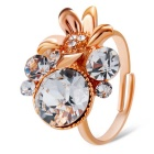 Xinguang Women's Lily Bloom Style Opening Ring - Rose Gold