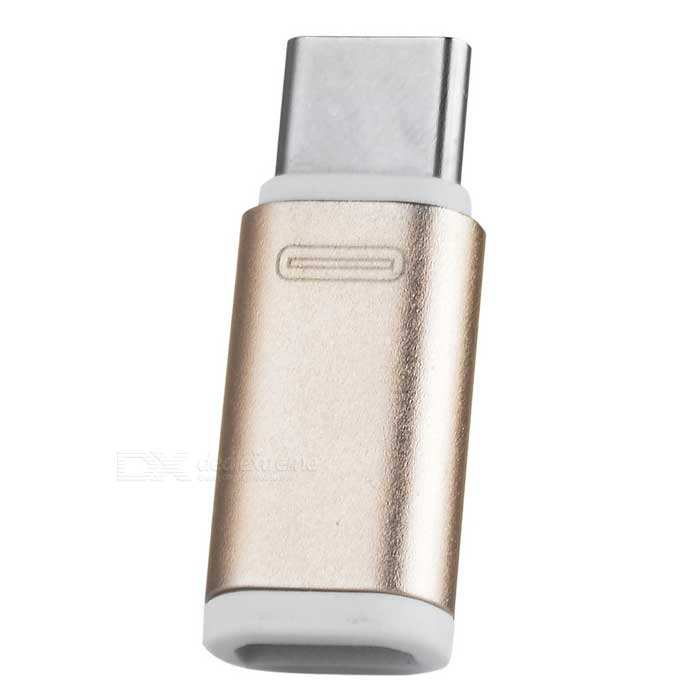 USB 3.1 Type-C Male to Micro USB Female Adapter - Rose Gold + WhiteAdapters &amp; Converters<br>Form  ColorRose Gold + WhiteMaterialAluminum alloy + plasticQuantity1 DX.PCM.Model.AttributeModel.UnitCompatible ModelsSmart phones and tablets with USB 3.1 type-C interfaceMain FunctionsCharging / Data syncConnectorUSB 3.1 Type-C Male to Micro USB FemalePacking List1 x Adapter<br>