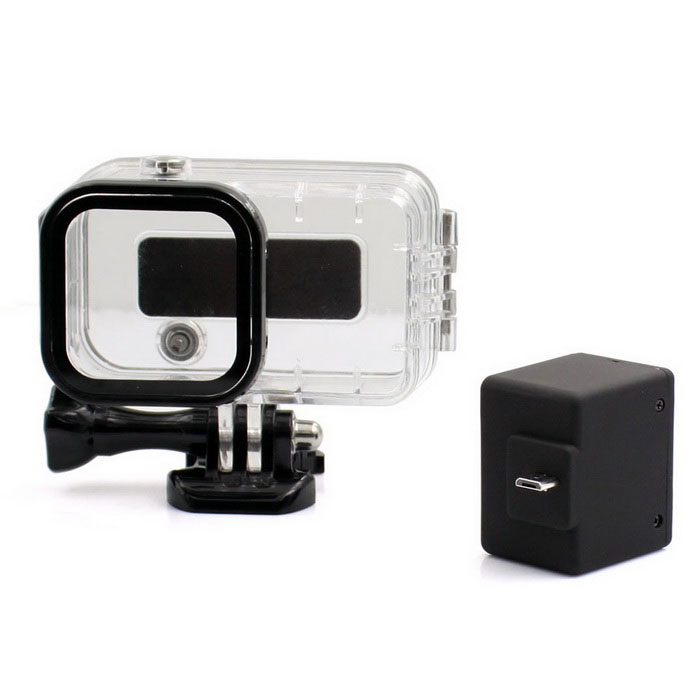 Expanded 1050mAh Li-ion Battery + Expanded Waterproof Case for Gopro Hero 4 Session