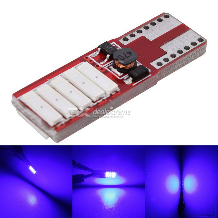 MZ T10 5W Canbus LED Car Clearance Lamp / Dome Light Blue 400lm 10-SMD 7020 (12V)Tail Lights<br>Color BINBlueModelN/AQuantity1 DX.PCM.Model.AttributeModel.UnitMaterialPCBForm  ColorRed + WhiteEmitter TypeLEDChip BrandOthers,N/AChip Type7020 SMD LEDTotal Emitters10Power5WWavelength440~480 DX.PCM.Model.AttributeModel.UnitTheoretical Lumens500 DX.PCM.Model.AttributeModel.UnitActual Lumens400 DX.PCM.Model.AttributeModel.UnitRate Voltage12Waterproof FunctionNoConnector TypeT10ApplicationLicense plate light,Clearance lamp,Indicator lamp,Roof light,Daytime running light,Reading lampPacking List1 x LED Light<br>