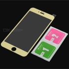 Electroplating Mirror tvrzeného skla Screen Protector pro iPhone 6 / 6S Plus - Gold + Transparent