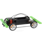 Remmen Fyrhjulsdrift Car Kit Educational DIY Hobby Robotic Toy - Svart (2 x AA)