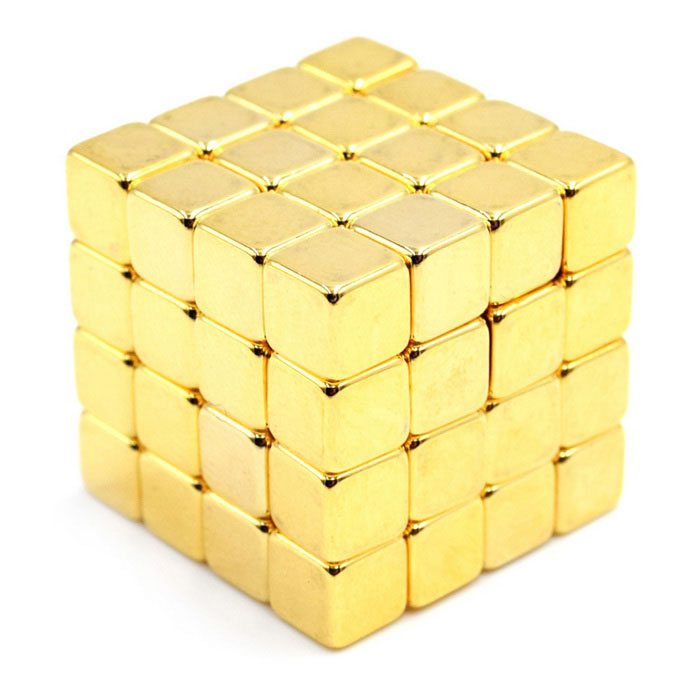 5mm Cube Magnet Toys - Gold ((64 PCS)Magnets Gadgets<br>Form  ColorGoldenMaterialMagnetQuantity1 DX.PCM.Model.AttributeModel.UnitNumber64Suitable Age 3-4 years,5-7 years,8-11 years,12-15 years,Grown upsPacking List64 x Magnets<br>