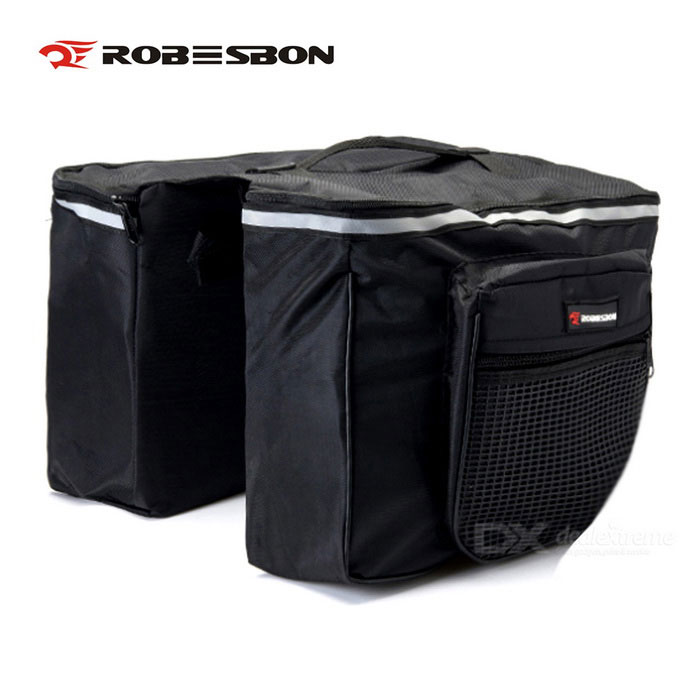 ROBESBON Polyester Fabric, Multifunctional Bicycle Bag - Black ( 20 L)