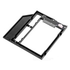 "Universal 9mm DVD / CD-ROM Optical Bay 2.5 ""SATA 3.0 SSD HDD Caddy Holder - Black"