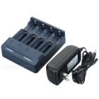 BC1000 Smart lader m / 4 Spor for Ni-MH NiCd Lithium-Ion batteri - Dark Blue (US Plugger)