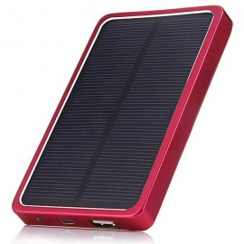 Aluminum-Alloy-Material-5V-21A-4000mAh-Solar-Charger-Mobile-Power-Bank-w-LED-Silver-2b-Red