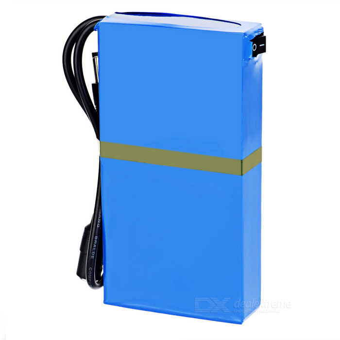 """Rechargeable DC 1248A 12.6V """"4800mAh"""" Battery w/ Switch / LED Light - Blue"""