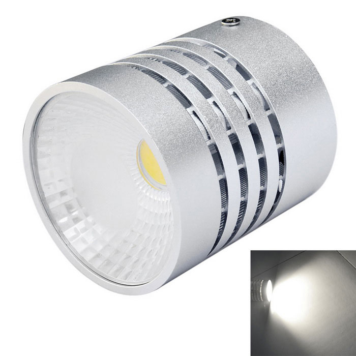 Jiawen 7W 630lm 6500K COB White light Round Ceiling Light - Silver  (AC 85~265V)Ceiling Light<br>Form  ColorSilverColor BINWhiteQuantity1 DX.PCM.Model.AttributeModel.UnitMaterialAluminumPower7WRated VoltageAC 85-265 DX.PCM.Model.AttributeModel.UnitChip BrandCreeEmitter TypeCOBTotal Emitters1Theoretical Lumens560-630 DX.PCM.Model.AttributeModel.UnitActual Lumens560-630 DX.PCM.Model.AttributeModel.UnitColor Temperature12000K,Others,6000-6500KDimmableNoBeam Angle60 DX.PCM.Model.AttributeModel.UnitExternal Diameter7.5 DX.PCM.Model.AttributeModel.UnitHole diameter7.8 DX.PCM.Model.AttributeModel.UnitHeight8 DX.PCM.Model.AttributeModel.UnitOther FeaturesHigh brightness; With even longer lifespan; Unique designPacking List1 x Round Ceiling Light<br>