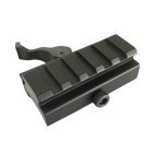 ACCU KC08 Aluminum Alloy Quick Release High Guide Rail for 20mm Gun Rail - Black