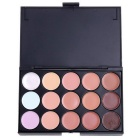 15-Color Concealer Makeup Palette Set - Black