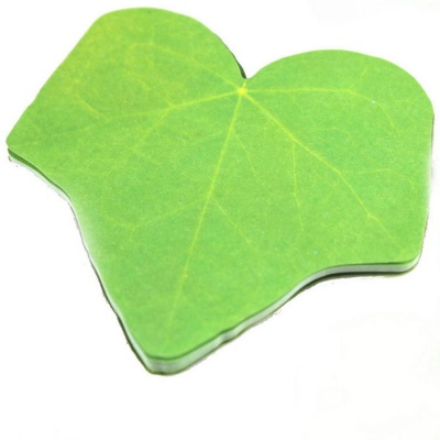 Creative Leaves Patterned 60-Paper Scratch Pad Sticker - Green