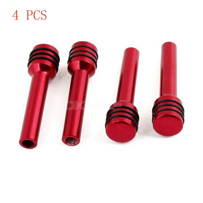 Burgundy Aluminum Alloy Door Lock Knob Cover Replacement for Car Auto - Red (4 PCS)