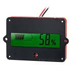 "Lithium Battery / Lead-acid Battery Residual Capacity Display Module w/ 1.7"" Screen - Red + Black"