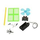 DIY Assembly Mini Fan Experiment Kit Educational Toy - Green + Black + Multi-Colored (2*AA)
