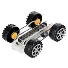 DIY Educational Assembled Gear-Driven Neliveto Drive Toy Toy - Musta (2 * AA)