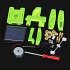 Aurinkoenergialla Assembly Robot DIY Kit Educational lelu - Fluorescent Green