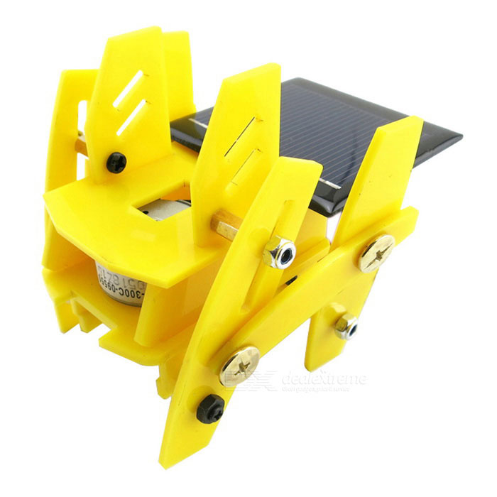 Buy Solar Powered Assembly Robot DIY Kit Educational Toy - Yellow with Litecoins with Free Shipping on Gipsybee.com