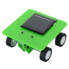 DIY Educational Assembled Solar-Powered Model Car Toy for Children / Kids - Green + Black