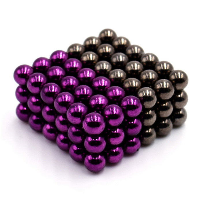 5mm Round Magnetic Puzzle Ball Toys - Purple + Silver Black (108PCS)Magnets Gadgets<br>Form  Color  Purple Silver BlackMaterialMagnetQuantity1 DX.PCM.Model.AttributeModel.UnitNumber108Suitable Age 3-4 years,5-7 years,8-11 years,12-15 years,Grown upsPacking List108 x Magnet balls<br>