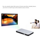 2-in-1 Android 4.4.2 DLP LED projektori + Smart TV Box XBMC w / 1G RAM / 8GB ROM-Valkoinen + Musta
