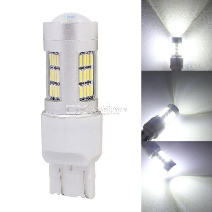 MZ T20 W21/5W 7443 8W Car LED Tail Brake Light / Daytime Ruinning Light White 42-4014 SMD 420lmFog Lights<br>Color Temperature6500K - T20 (2-Wire)ModelN/AQuantity1 DX.PCM.Model.AttributeModel.UnitMaterialPCBForm ColorSilverCompatible Car ModelUniversalRate Voltage12Power8WColor BINWhiteTheoretical Lumens480 DX.PCM.Model.AttributeModel.UnitActual Lumens420 DX.PCM.Model.AttributeModel.UnitConnector TypeOthers,T20 W21/5W 7443Emitter TypeLEDChip BrandOthers,N/AChip Type4014 SMD LEDTotal EmittersOthers,42Color Temperature6500 DX.PCM.Model.AttributeModel.UnitWaterproof FunctionNoApplicationBrake light,Foglight,Tail light,Daytime running lightPacking List1 x LED Light<br>