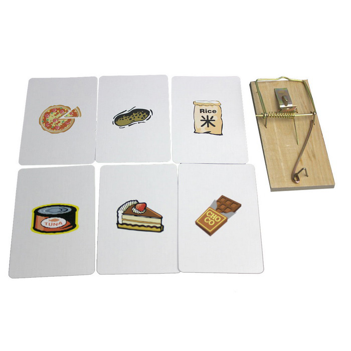 Magic Props Looking For The Card MousetrapMagic Supplies<br>Form  ColorBeige + Brown + Multi-ColoredMaterialPaper + WoodQuantity1 DX.PCM.Model.AttributeModel.UnitSuitable Age 5-7 years,8-11 years,12-15 years,Grown upsPacking List1 x Mousetrap6 x Cards1 x English manual<br>