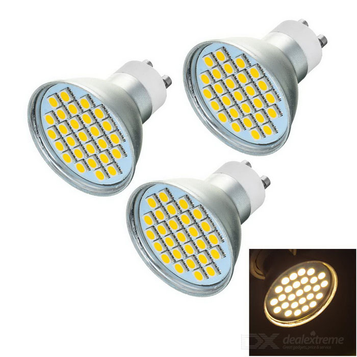 GU10 5W LED Bulb Lamp Spotlight Warm White /Bluish White 3000K 175lm 27-SMD 5050
