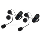 TCOM-SC 2 * Casque de moto 800m Casque d'interphone-Noir (US Plugs)