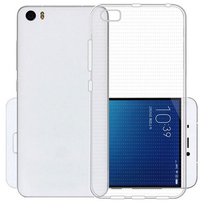 Ultra-thin TPU Back Protective Cover Case for Xiaomi 5 - Transperent