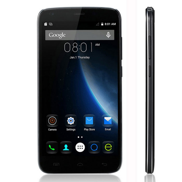 DOOGEE T6 Android 5.1 Quad-Core 4G Phone -Black + Iron grey