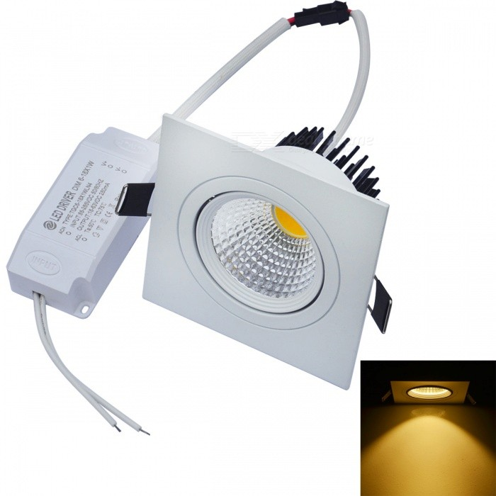 JIAWEN 8W Dimmable Anti-glare COB LED Ceiling Light Warm White 30003200K 0640lm (AC 85265V)