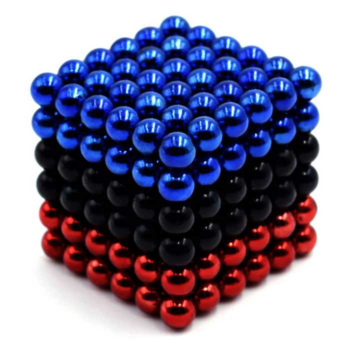 5mm Round Puzzle Magnetic Balls Toys - Red + Black + Blue (216PCS)Magnets Gadgets<br>Form  Color  Red black blueMaterialMagnetQuantity1 DX.PCM.Model.AttributeModel.UnitNumber216Suitable Age 3-4 years,5-7 years,8-11 years,12-15 years,Grown upsPacking List216 x Magnetic balls<br>