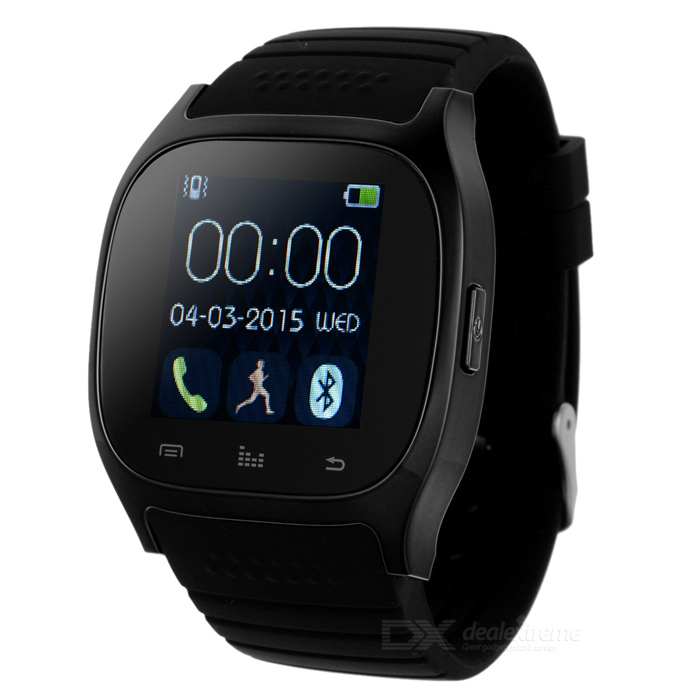 New BT Smart Watch w/Message Synchronizatio for IOS &amp; Android - BlackSmart Watches<br>Form  ColorBlackQuantity1 pieceMaterialSteel + SiliconeShade Of ColorBlackCPU ProcessorMTK2501Bluetooth VersionBluetooth V4.0Touch Screen TypeYesOperating SystemNoCompatible OSAndroid &amp; IOSWater-proofOthers,IP57Battery Capacity230 mAhBattery TypeLi-ion batteryStandby Time180 hoursOther FeaturesScreen Size: 1.4 inch; <br>Storage: RAM 32MB + ROM 24MBScreen SizeN/A cmScreen ResolutionN/ALanguageN/AWristband Length27 cmBattery ModeReplacementPacking List1 x Smart watch1 x USB charging cable (55cm)1 x Chinese / English user manual<br>