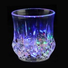 Water Induction Colorful Flashing Light Luminous Cup Creative Gift Cup - Transparent (2*2025)