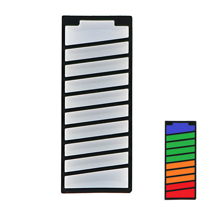 Battery Style LED Digital Tube Power Display 4-color 10-segment LED Bar Module for DIYLCD, LED Display Module<br>Form ColorBlack + WhiteModelN/AQuantity1 DX.PCM.Model.AttributeModel.UnitMaterialAlloy + PlasticScreen TypeOthers,LEDScreen Size1 DX.PCM.Model.AttributeModel.UnitResolutionOthers,N/AWorking Voltage   2.5-3 DX.PCM.Model.AttributeModel.UnitEnglish Manual / SpecYesDownload Link   http://pan.baidu.com/s/1hrfFCIKPacking List1 x Battery style digital tube<br>