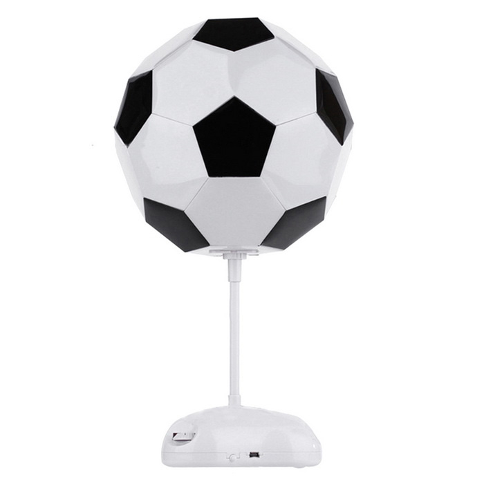 Luova DIY Assembly Football Style USB Desktop Lamppu / Poytavalo / Night Light - White + musta