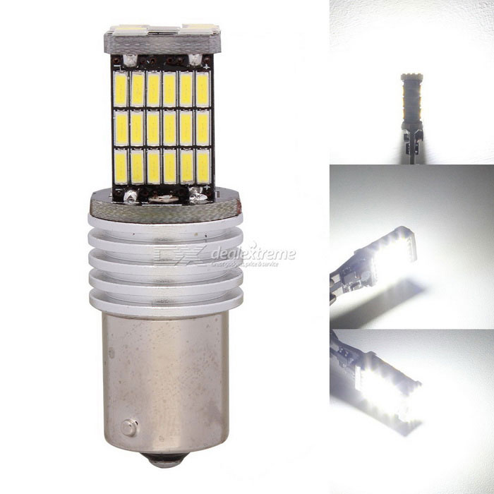 MZ 1156 9W Car LED Brake / Parking / Front Rear Steering Light White 6500K 450lm 45-4014 SMD (12V)Fog Lights<br>Color Temperature6500K - 1156ModelN/AQuantity1 DX.PCM.Model.AttributeModel.UnitMaterialPCBForm ColorYellow + Silver + Multi-ColoredCompatible Car ModelUniversalRate Voltage12Power9WColor BINWhiteTheoretical Lumens500 DX.PCM.Model.AttributeModel.UnitActual Lumens450 DX.PCM.Model.AttributeModel.UnitConnector TypeOthers,1156Emitter TypeLEDChip BrandOthers,N/AChip Type4014 SMD LEDTotal EmittersOthers,45Color Temperature6500 DX.PCM.Model.AttributeModel.UnitWaterproof FunctionNoApplicationBrake light,Backup light,Steering light,Foglight,Daytime running lightPacking List1 x LED Light<br>