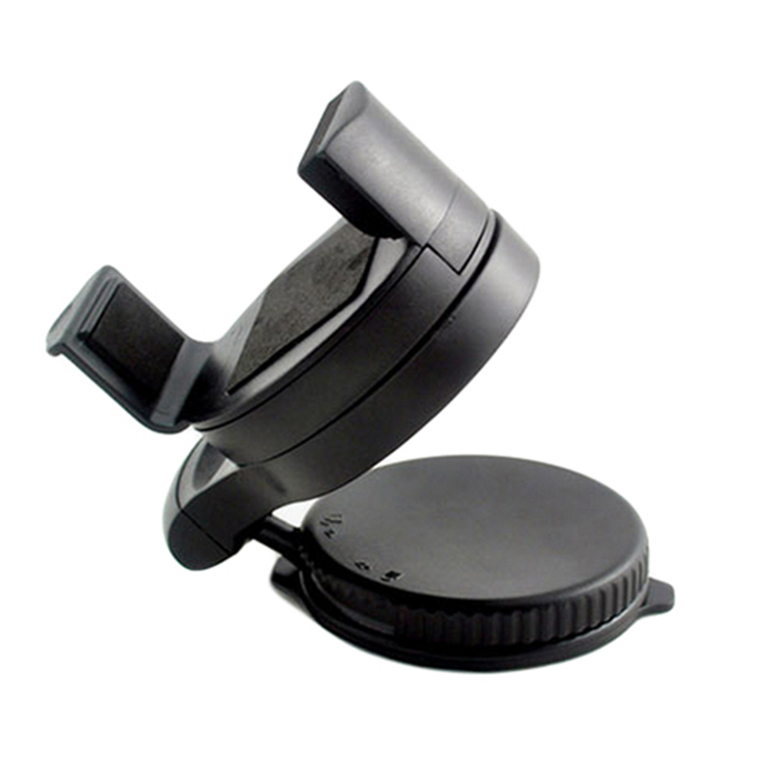 Car 360° Holder Mount for GPS, Mobile Phone - Black