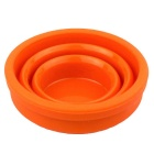 Folding Portable Silicone Camping Travel Cup - Orange