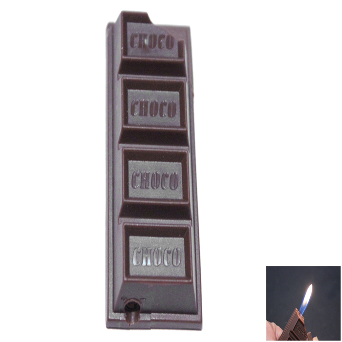 Creative Chocolate Candy Style Gas Lighter - Coffee