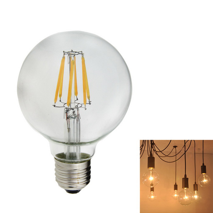E27 6W 540lm 2800-3000K Warm White 6-LED Filament Bulb (85V~265V)