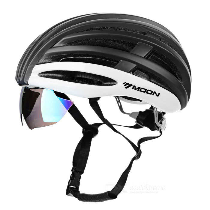 MOON HB-95 23-Hole Breathable Cycling Bike Safety Helmet w/ Removable Lens - Black + White (L)Helmets<br>Form  ColorBlack + White + Multi-ColoredSizeLModelHB-95Quantity1 DX.PCM.Model.AttributeModel.UnitMaterialEPS + PCShade Of ColorBlackBest UseCycling,Recreational Cycling,Road CyclingHead Circumference58~61 DX.PCM.Model.AttributeModel.UnitGenderUnisexSuitable forAdultsPacking List1 x Helmet3 x Lenses1 x Lenses storage pouch<br>