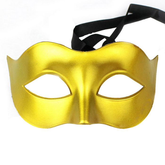 Buy Masquerade Party Half Face Mask - Golden with Litecoins with Free Shipping on Gipsybee.com