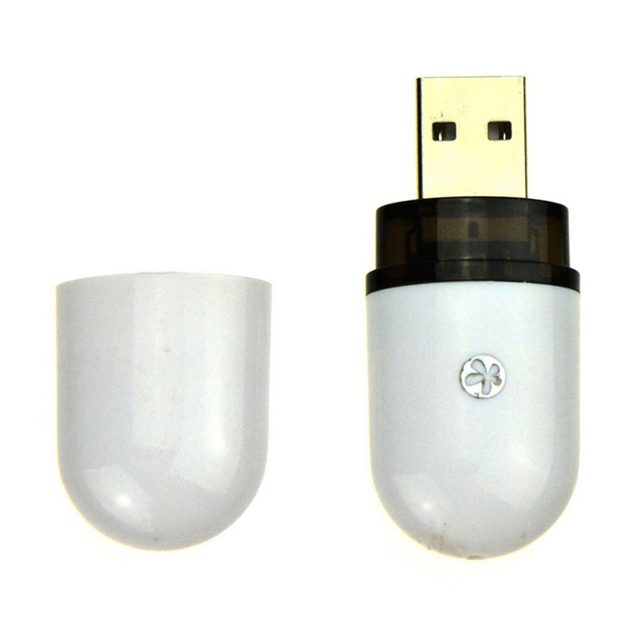 fra-Color Speaker Accessori USB Bluetooth Music Receiver Dongle per PC / Laptop-Bianco
