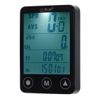 "BOGEER YT-308 2"" Touch Screen 24-Function Water-Resistant Wired Bike Computer - Black (1*CR2032)"