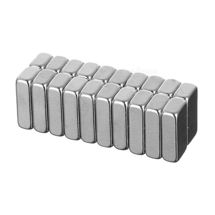 10*5*3mm Rectangular Strong NdFeB Magnet - Silver (20PCS)Magnets Gadgets<br>Form ColorSilver 20MaterialNdFeBQuantity1 SetNumber20Suitable Age 5-7 Years,8-11 Years,12-15 Years,GrownupsPacking List20 x Magnets<br>
