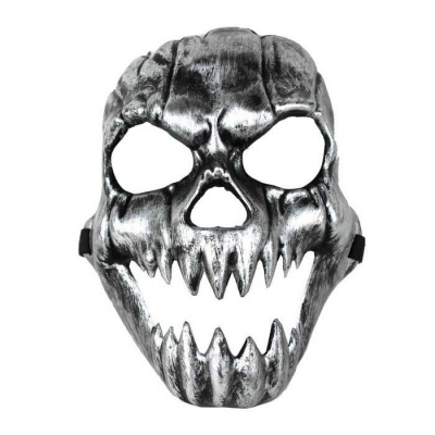 Terror Grimace Canine Skull Mask - Silvery Black