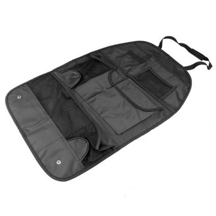 Buy ZIQIAO Portable Waterproof Vehicle Seatback Bag w/ Pockets Car Seat Compartment Pouch - Black with Litecoins with Free Shipping on Gipsybee.com